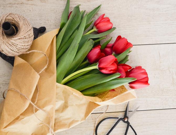 Livraison de tulipes !