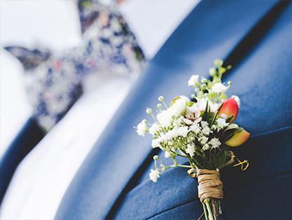 Fleur boutonnière mariage